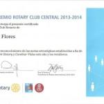 Mencion Presidencial con Distincion- Otorgado al Rotary club de Flores, por su dedicacion a ejemplificar el lema VIVE ROTARY, CAMBIA VIDAS.
